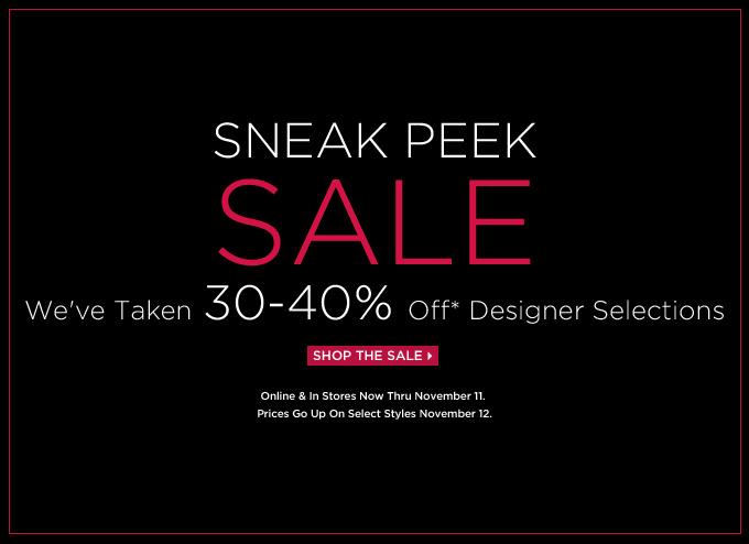 30-40% Off Pre-Holdiday Sales Alert