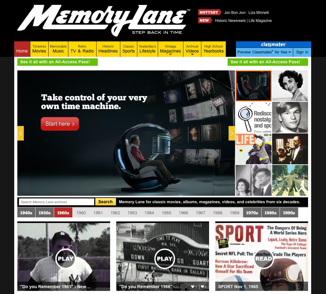 Take A Trip Down MemoryLane.com