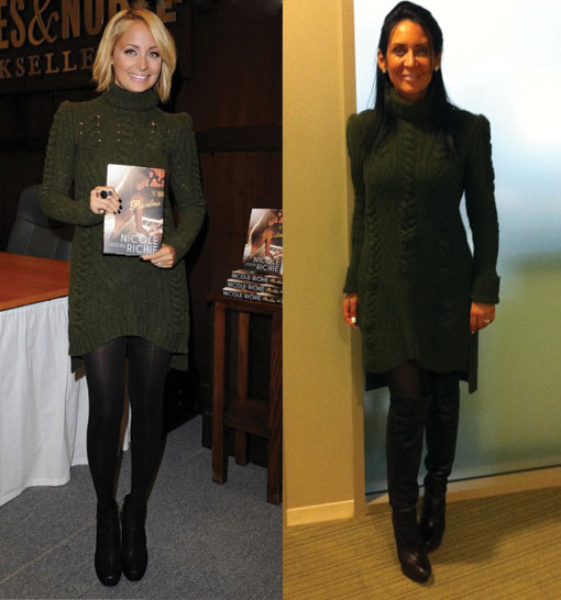 What They Wore – Celine Sweater Dress