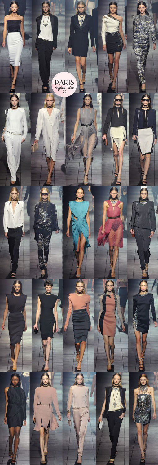 Lanvin Spring 2012: Sleek and Sexy Separates