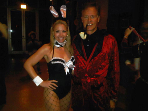 "Happy Halloween From ""Hef"" and His Bunny"