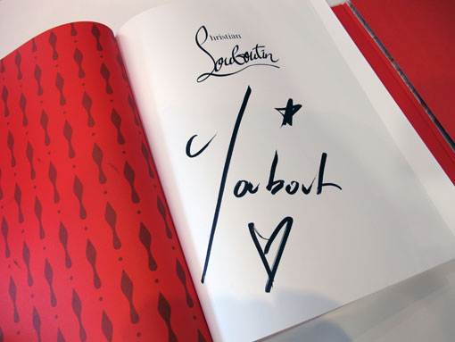 christian louboutin autograph signing