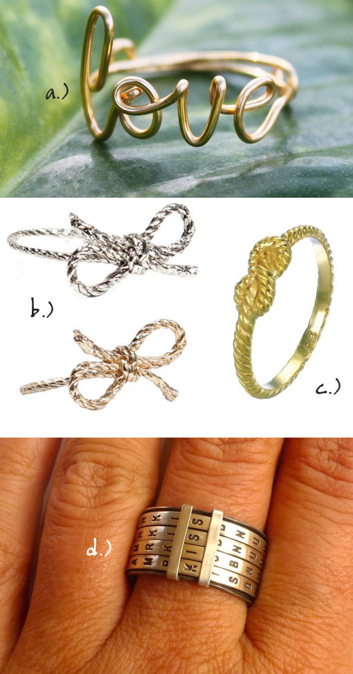 "Gentlemen: Forget Me ""Knot"" For Your Sweetheart"