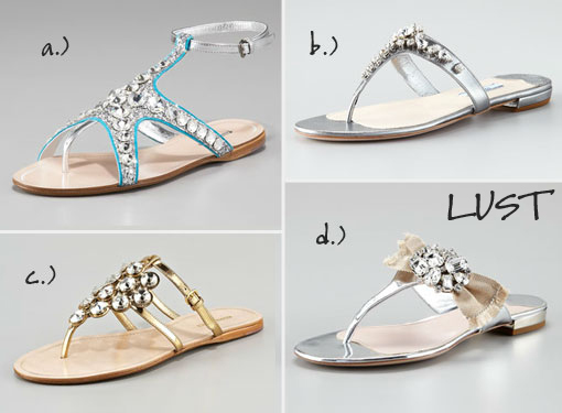 Bejewled Sandals: Lust Vs. Must