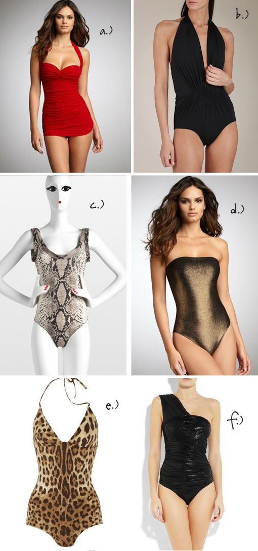 Lust Or Must? One-Piece Swimsuits