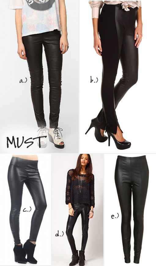 HOT Fall Trend Alert: Leather Jeggings