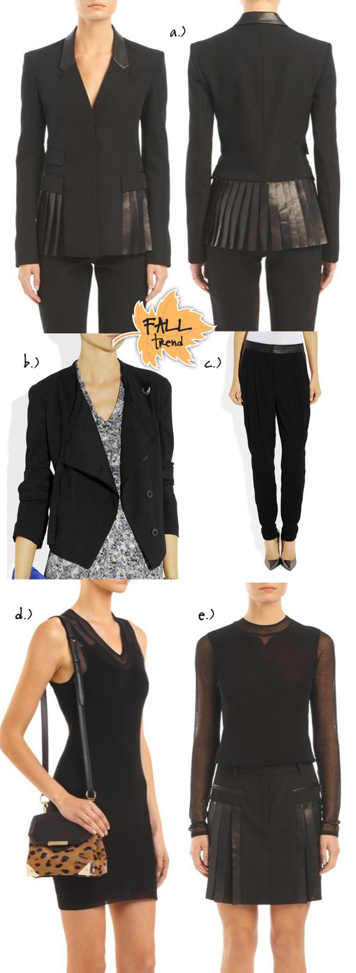 Fall Trend: Leather Trim