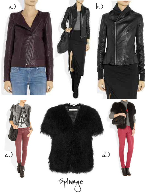 Steal Versus Splurge:The Leather Jacket