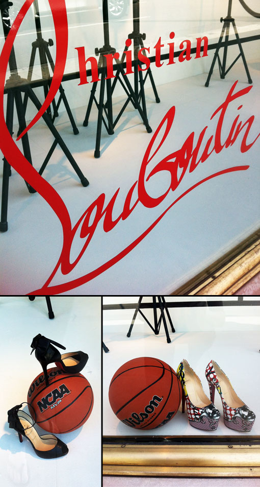 The Christian Louboutin Window @ Saks Beverly Hills