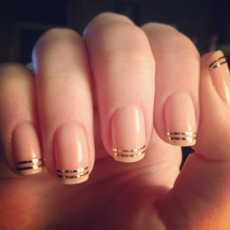 Nail It! With Metallic Tape