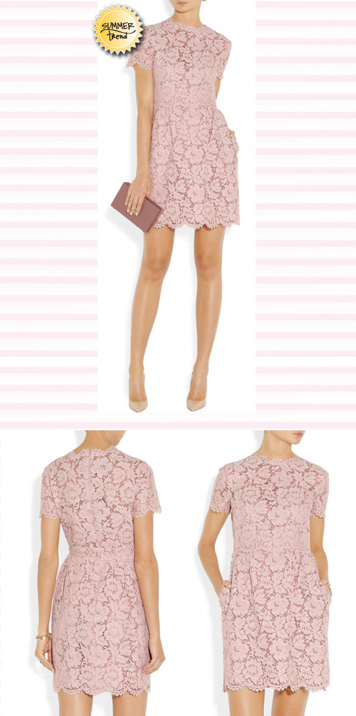 Statement Piece: A Pretty In Pink Lace Dress