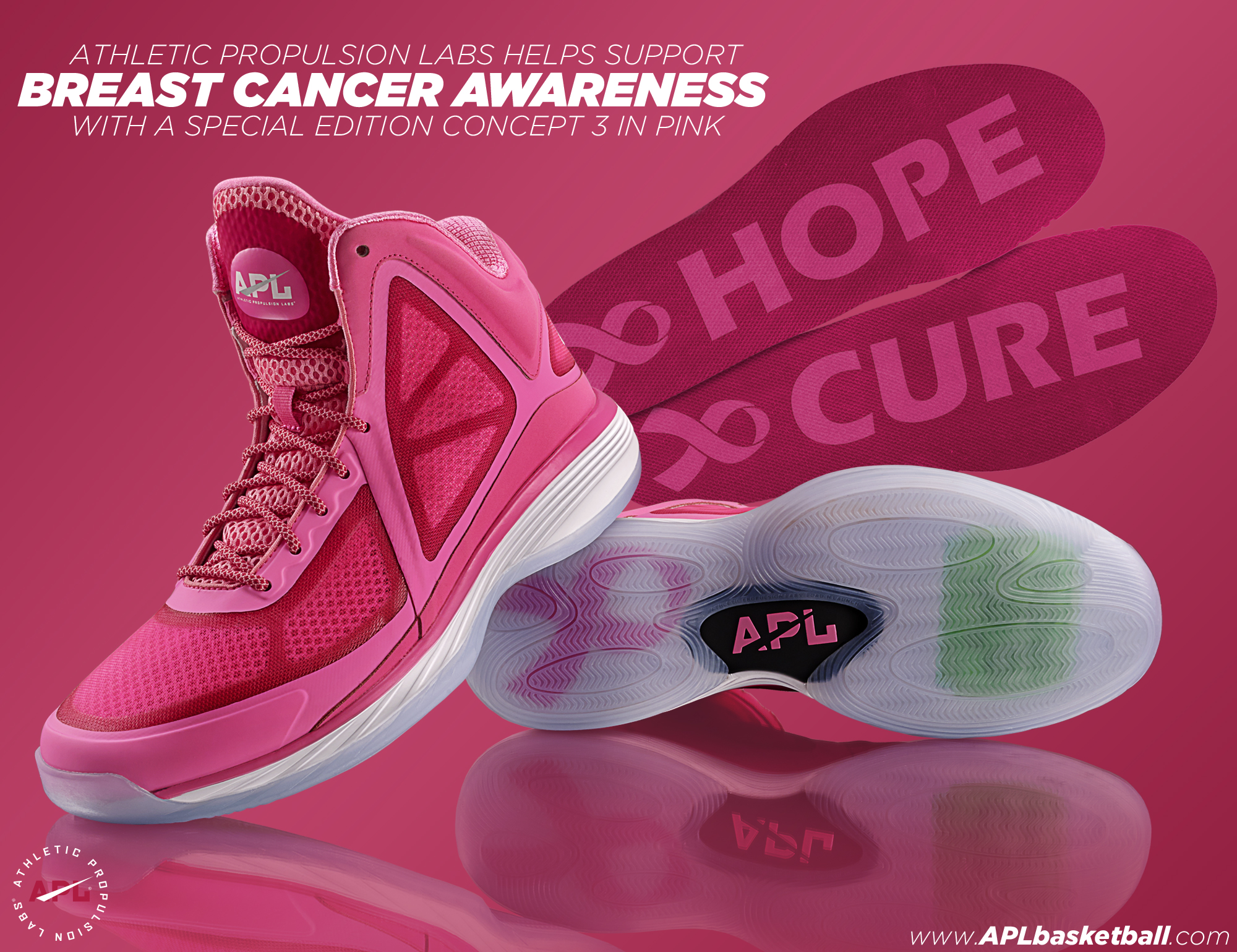 Fellas! Support Breast Cancer Month Awareness With APL Concept 3's in Pink