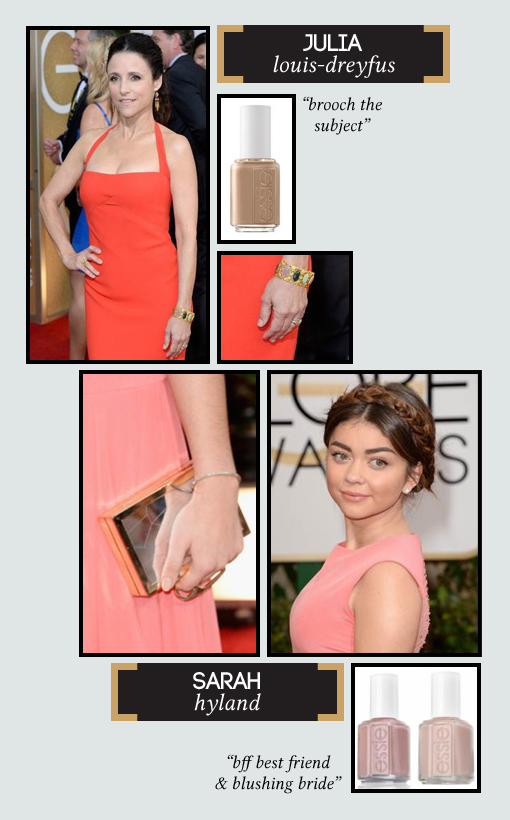 Celebrity Golden Globes Nail Looks