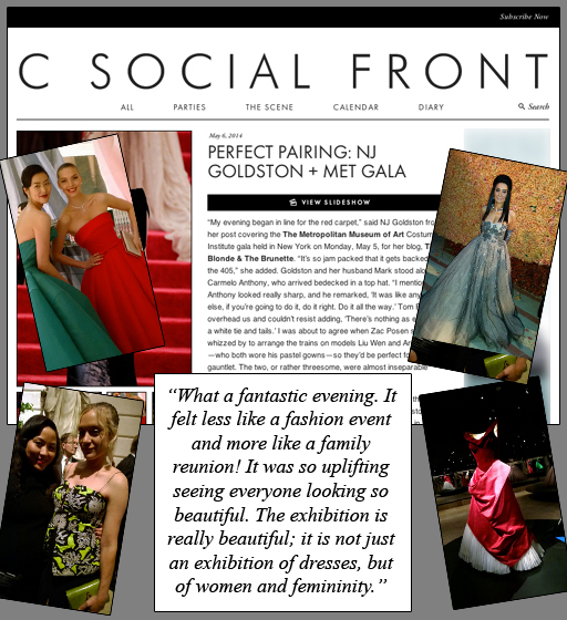 C Social Front – Perfect Pairing: NJ Goldston + Met Gala