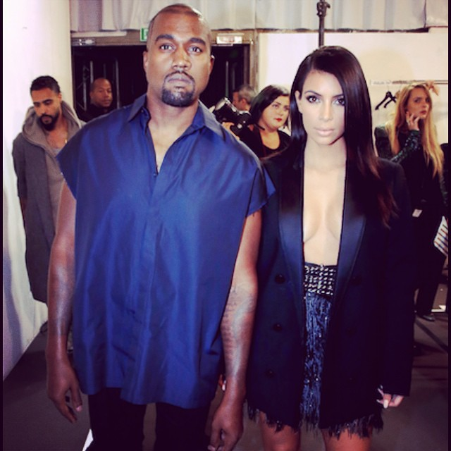 Join us backstage at the #Lanvin SS15 125 Anniversary Runway show in #Paris yesterday with exclusive Photos of #KimKardashian & #KanyeWest . Read more about it on our Facebook page! ?