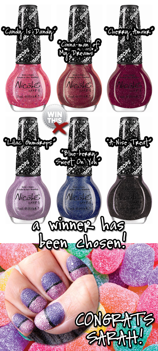 Congratulations Nicole by OPI Gumdrops WINNER!