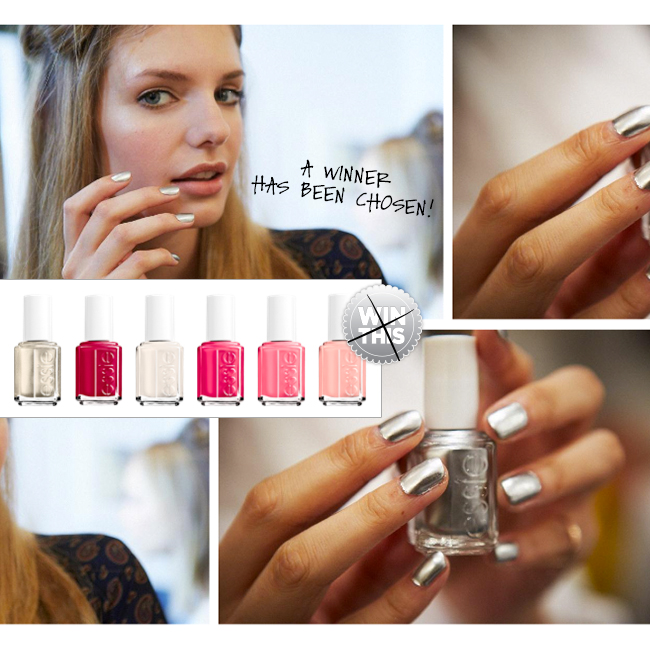 CONGRATULATIONS to our Essie Holiday Polish Winner!