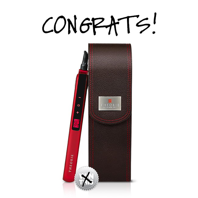 Congrats to the Theorie Flat Iron Giveaway!