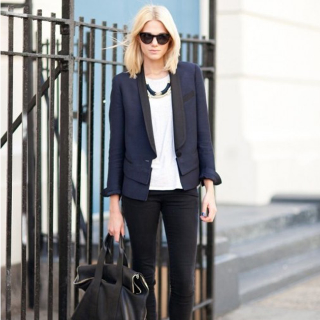 "Trendy Tuesday: Wearing Black & Navy Is The New ""Do"""