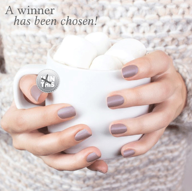Congrats To The Winner Of Our Essie's Cashmere Matte Collection Giveaway!