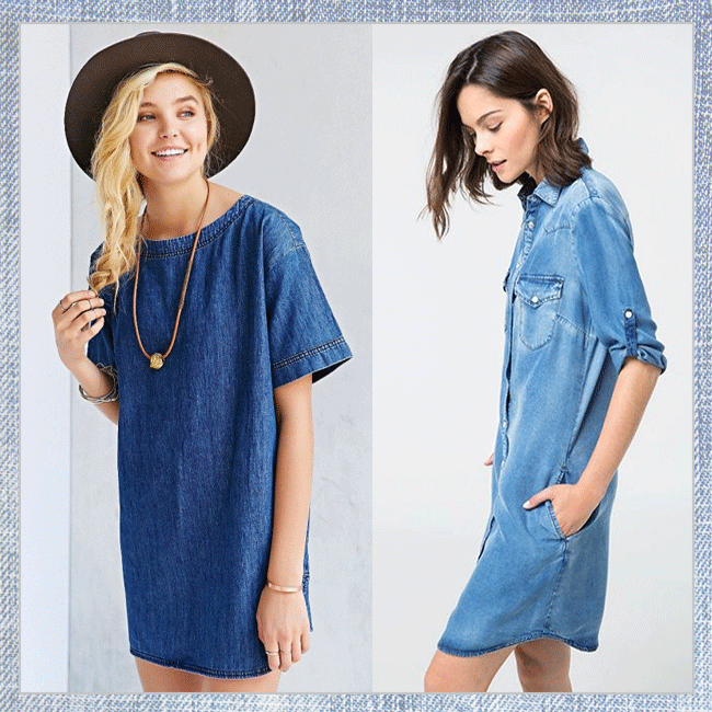 "The LDD: Springtime Takes On The ""Little Denim Dress"""