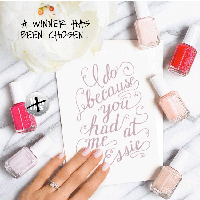Congratulations To The Winner Of Our Essie Bridal Polish Giveaway!