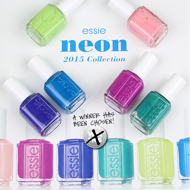 Essie Neon 2015 Collection Giveaway Winner!