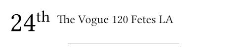 vogue 120 fetes la