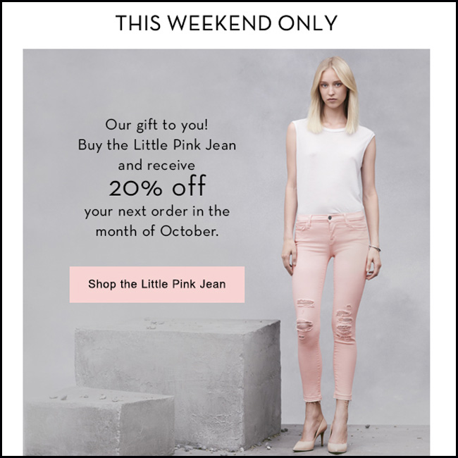 Things We Love: The Little Pink Jean for BCA Month!