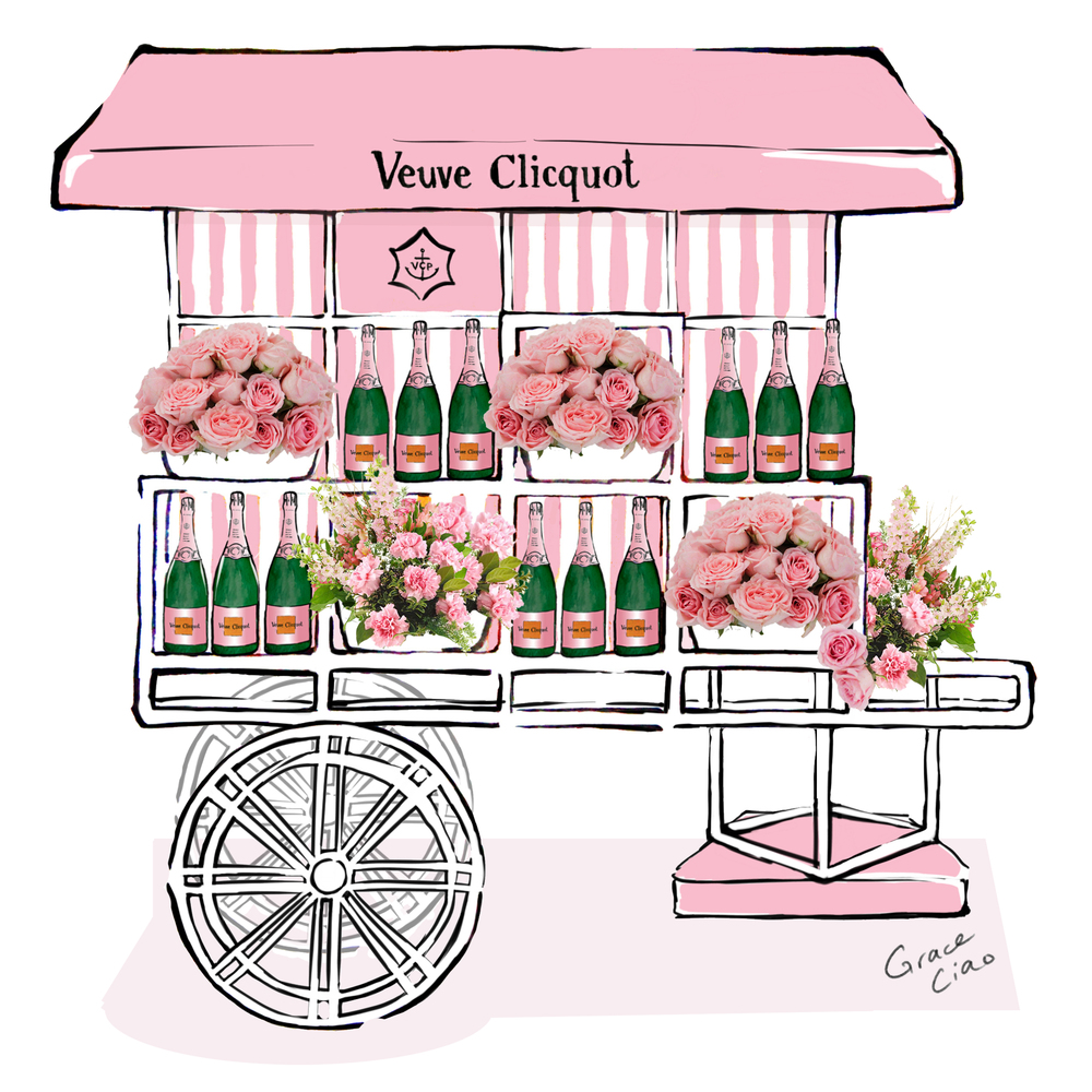 grace-ciao-fashion-illustrator-veuve-clicquot-polo-classic-liberty-state-park-rose-flower-cart