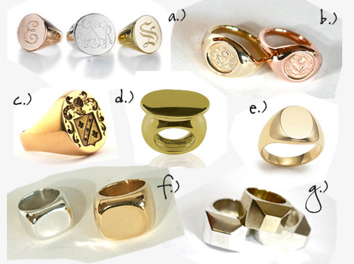 Your Initials In Style: Signet Rings