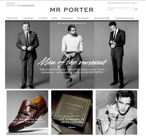 Guys, Mr. Porter Is Open For Business Today