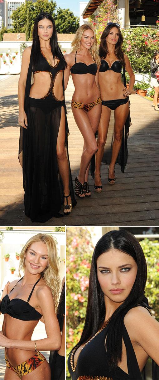 Victoria's Secret Supermodels Launch: 2011 Swim Collection