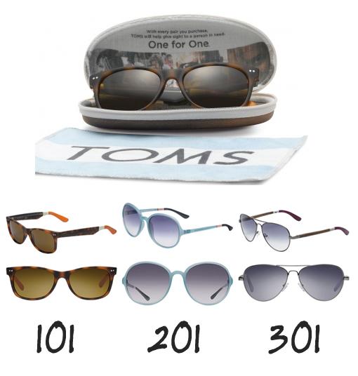 Toms Eyewear Styles