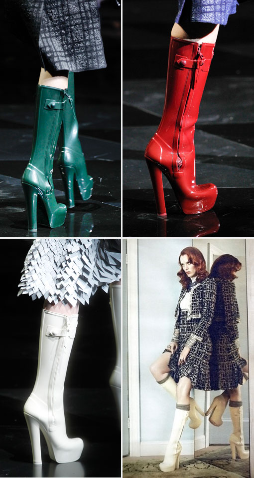 High Heeled Rain Boots Fall 2011