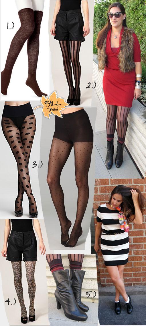 5 Fabulous Fall Hosiery Trends