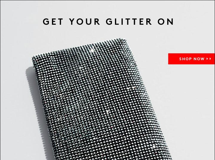 Christian Louboutin Glitter Evening Clutch