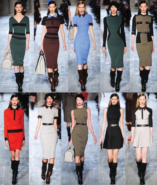 Victoria Beckham Fall Winter 2012: Sleek & Sexy