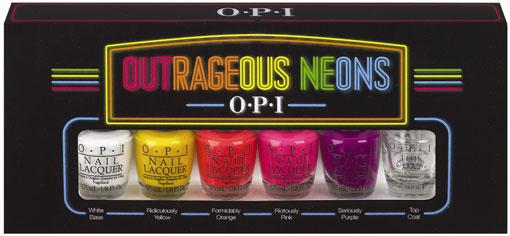 Outrageous Neons: OPI + Calvin Klein
