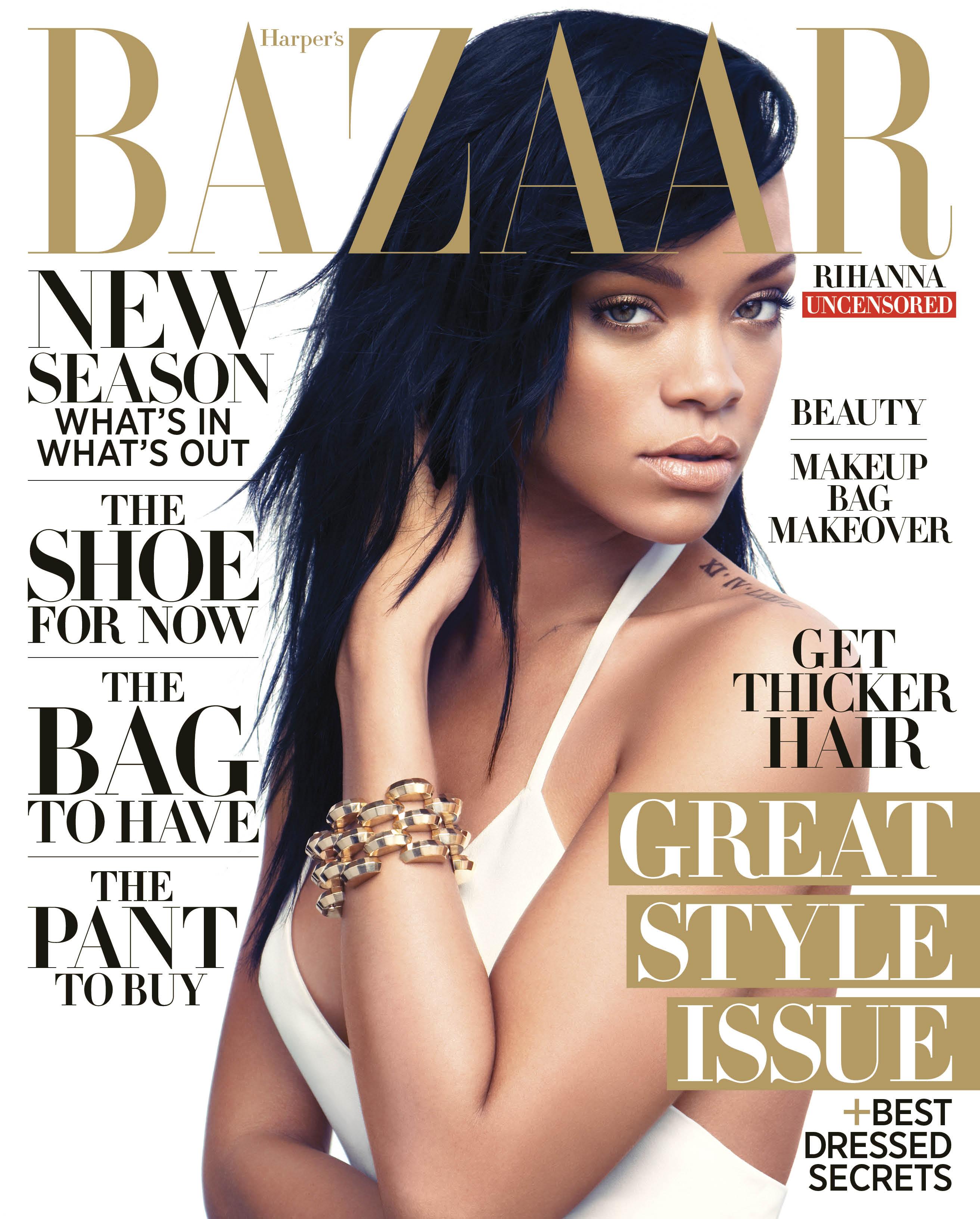 Sneak Peek:Rihanna Is Harper's Bazaar's August Covergirl