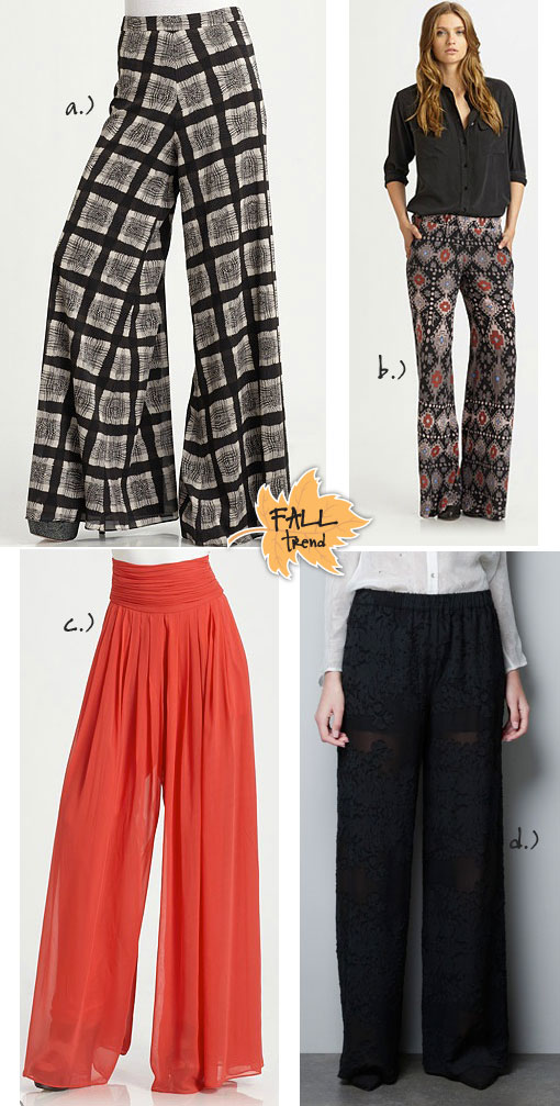 Fall Trend: Wide Leg Pants