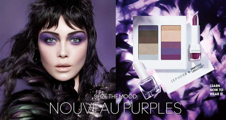 Hot To Wear The Hot Make-Up Trend: Purple Velvet Eyeshadow