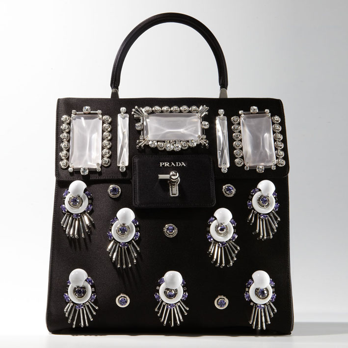 Prada Satin Ricamo Runway Bags:On Sale Online