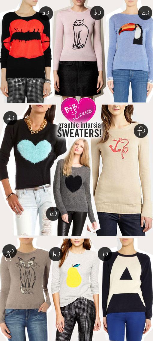 B&B Loves: Graphic Intarsia Sweaters