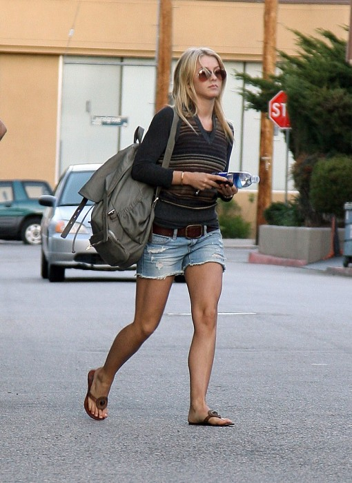 Julianne-Hough-Wearing-Denim-Shorts-Leaving-In-Studio-City-03