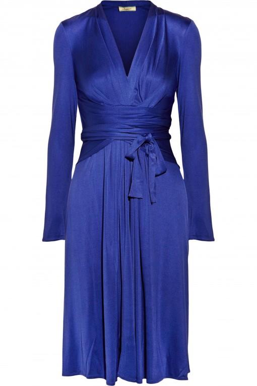 Issa Silk-jersey wrap-effect dress, THE OUTNET.COM, 369305_in_xl
