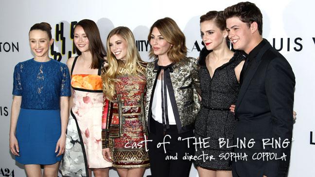 Taissa Farmiga, Katie Chang, Claire Julien, Sofia Coppola, Emma Watson, Israel Broussard