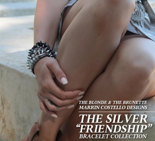 "Riley Keough and ""Bestie"" Jadan Huter Model  B&B x MCD ""BFF"" Bracelet Collection"