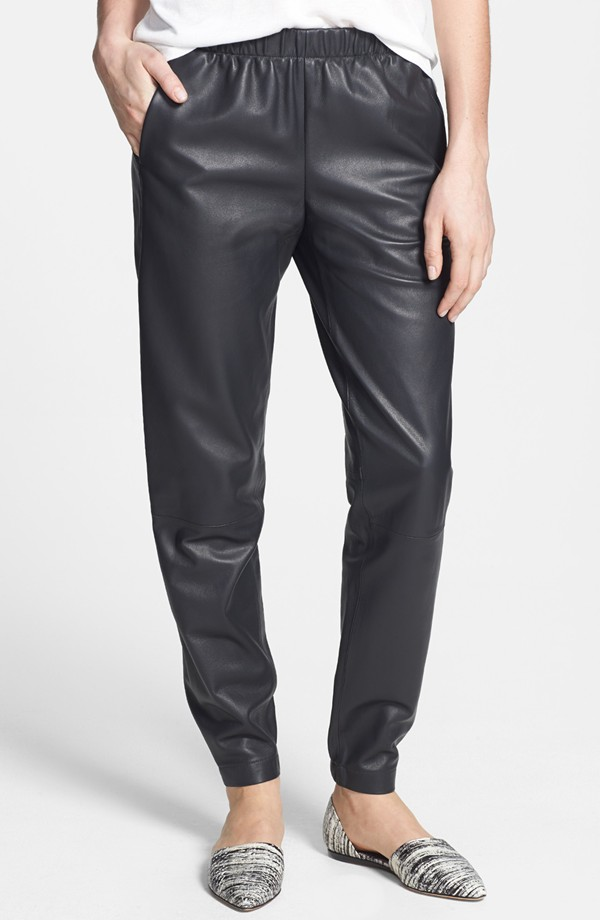 The New Statement Pant: Leather Joggers