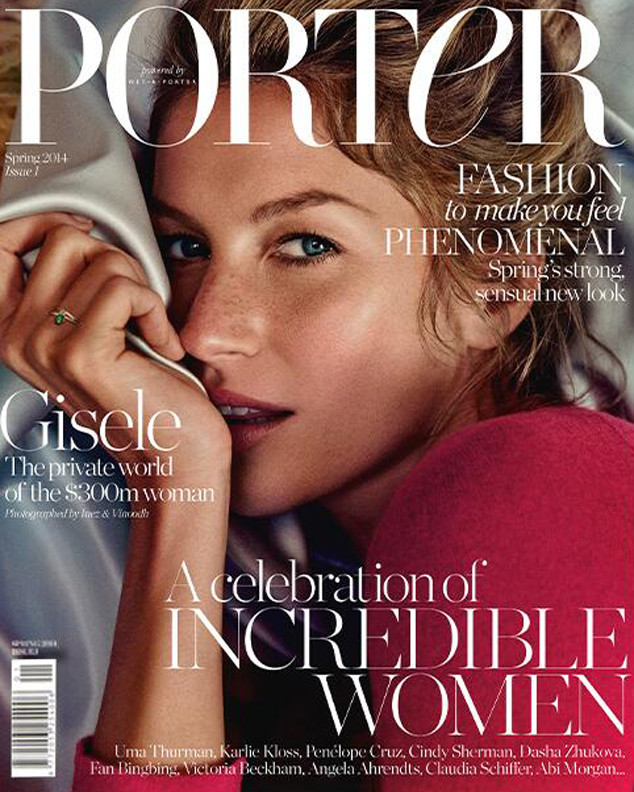 Gisele Is Porter Magazine's Inaugural Covergirl!
